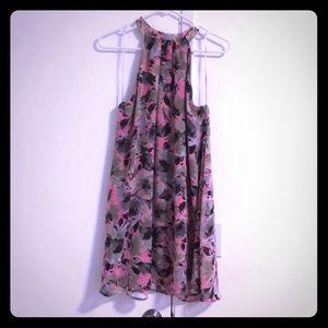 ASTR floral print halter dress